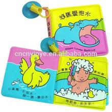 Livro de banho EVA resistente à água para crianças, livro de banho do bebê plástico educacional