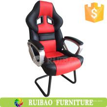 Nuevo cuero de la silla de la silla del juego de la PC de la parte posterior de la manera alta con las sillas de encargo del juego