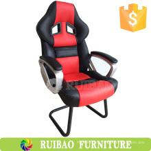 Новая мода High Back PC Gaming Chair Кожаная кожа для сиденья с пользовательскими игровыми стульями