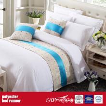 Coureur de lit de roi de tissu de décoration de Poly