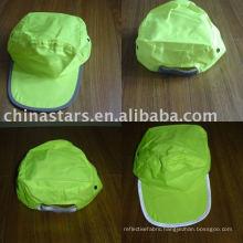 High visibility warming reflective safety cap