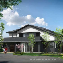 Light steel structure modern style luxury villa