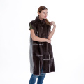 Double-sided suiting mink vest