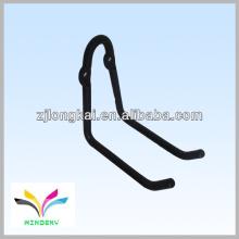 Fashional stabile schwarze pulverbeschichtete Metall-Stahlrohrhaken