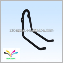 Fashional sturdy black powder coated metal steel pipe hook