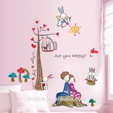 Теплый спальня стена наклейки романтический любителей наклейки на стены бумаги
