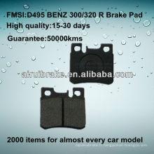 D495 OE QUALITY plaquette de frein à disque basse en métal pour BENZ 190D / 190E