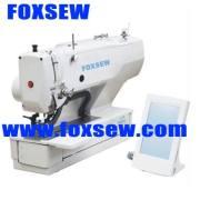 Botón del punto de cadeneta computarizado agujerear la máquina de coser