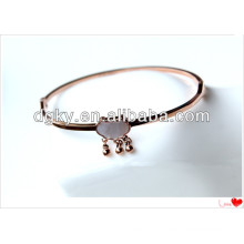 Longevity lock Stainless Steel Fake Women Rose Gold Bangle