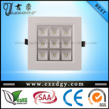 9*1W SMD Square LED Housing Ceiling Light