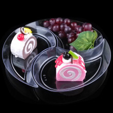 Tableware Plastic Plate Disposable Tray New Moon Shaped Plate