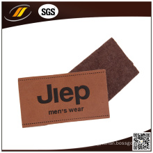 Fashion Design Custom Embossed Leather Patch (HJL46)