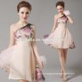 Одно плечо Коктейльные платья взрослые возрастной группы цветочные абрикос пляжная одежда вечерний коктейль платье