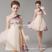 One-Shoulder cocktail dress Adults Age Group floral apricot beachwear evening cocktail party dress