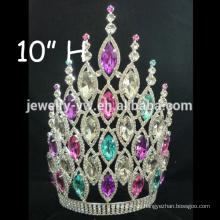 Großhandel Mode Metall hohe Festzug voller Rhinestone Haar Ornamente