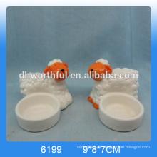 Bougies en céramique design moderne avec forme de mouton