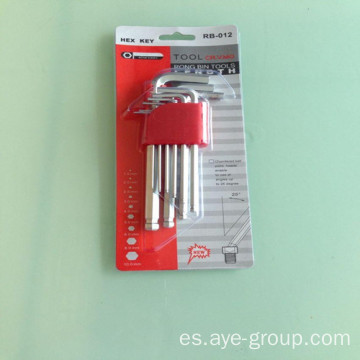 Juego de llaves Allen Hex de medio punto Ball Point