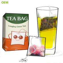 En gros Branded Meilleur Nylon jetable en soie de coton maille feuille lâche vert carré filtre sacs à thé / sachets de thé avec de la ficelle