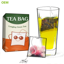 Wholesale Branded Best Disposable Nylon Cotton Silk Mesh Loose Leaf Green Square Filter Tea Bags/Tea Sachets With String