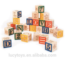 Hot selling 24 pcs high quality wooden learning blocks