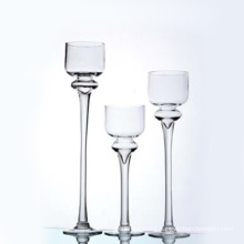 Clear Glass Holder W/Handle