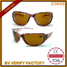 Lady Sport Sun-Eyewear with Fashionable Figure and Yellow Lenes