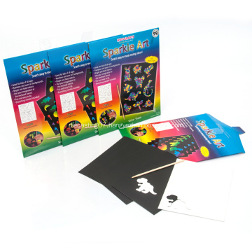 Sparkle Scratch Art Crafts