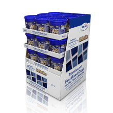 Stabile umweltfreundliche Pappe Display Ständer für Emulsion Adhesive