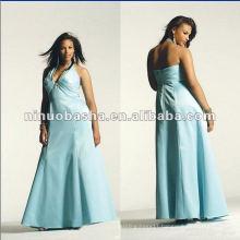 Beaded Bridal Satin Halter Evening Dress 2012