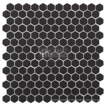 Azulejo de mosaico de vidro para cozinha em formato hexagonal