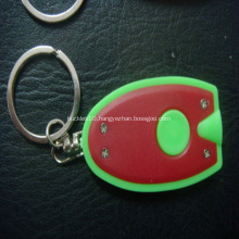 Promotoional Led Oval Shape Keyring Torches