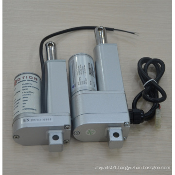 Linear actuator solution for lawn mower