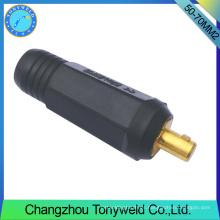 Accesorios de tig pistola de soldadura piezas 50-70mm2 cable macho conjunta
