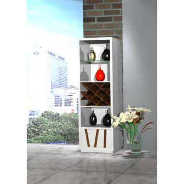 Modern white high gloss wine rack