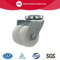 2 inch bolt hole swivel twin wheel white PP industrial caster