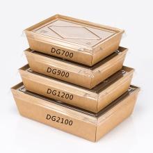 Échantillon gratuit Logo personnalisé écologique jetable boîte à gâteaux en papier Kraft Boîte d'emballage alimentaire de boulangerie avec poignée de fenêtre