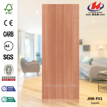 *JHK-F01 34 Inch Interior Door Interior Wooden Doors Wood Veneer Interior Sapele Door Skin