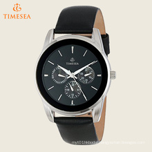 Men′s Multifunction Leather Strap Watch 72549