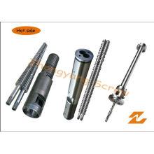 Tornillo bimetálico del extrusor y barril de tornillo de la protuberancia del tubo del PVC del barril