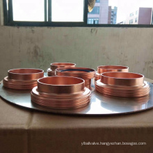 Sanitary Copper ferrule with tri clamps a set custom size