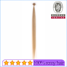 Cuticles Aligned Pre-Bonded Unprocessed Human Virgin 613# Blond Nano Rings Special I Tip Hair Extension Remy Hair