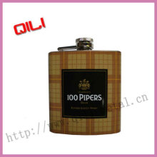 Overall water transfer stainless steel hip flask