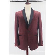 Men′s Tailored Fit Velvet Tuxedo Suit Jacket Satin Shawl Lapel Blazer