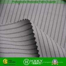Clássica listra com o fio tingido a tela do poliéster para Men′s jaqueta ou casaco de algodão
