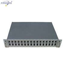 19inch rack mounted 16 slots media converter rack