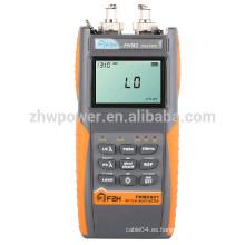 FHM2 Conjunto de Prueba de Pérdida Óptica, medidor de potencia de fibra y fuente láser, Multímetro Óptico con Menú en Inglés