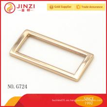 Venda al por mayor la hebilla de correa cuadrada de la aleación del cinc del metal para las piezas del bolso de la manera