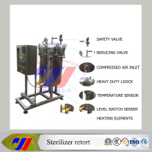 Small Electric Autoclave Sterilizer Retort with Paperless Recorder