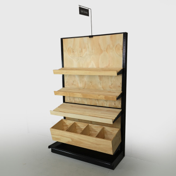 Retail+wooden+Supermarket+Display+Rack