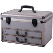 Caso de caja de aluminio y caso de vuelo